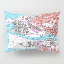 Vintage Map of Oakland California (1959) Pillow Sham