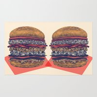 burger Area & Throw Rugs featuring burger by mr. louis