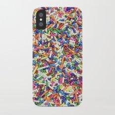 Rainbow Candy Dessert Sprinkles iPhone X Slim Case