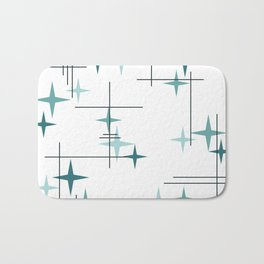 Mid Century Modern Stars (Teal) Bath Mat