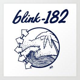 blink-182 beach BLUE Art Print