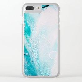 "Tides of Change | ""Ocean Tide"" (1) Clear iPhone Case"