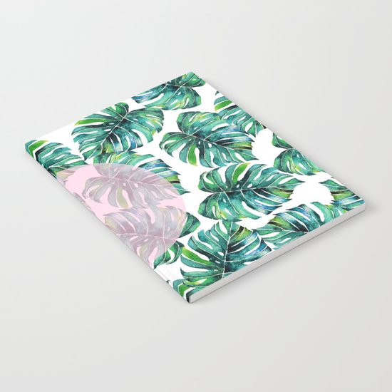 Monstera Pattern V1 #society6 #decor #buyart Notebook