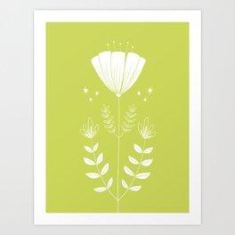 Folky Flower Art Print