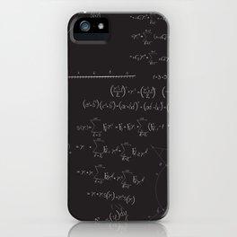 Mathematical seamless pattern iPhone Case