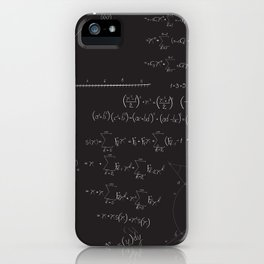 Mathematical seamless pattern iPhone Case