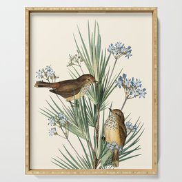 Little Birds and Flowers III Serving Tray