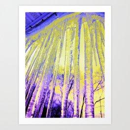 Ice Cicles Art Print