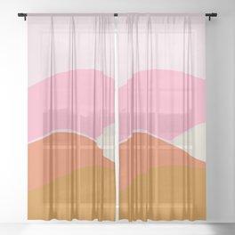 pink sunset Sheer Curtain
