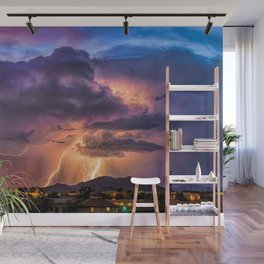 Sunset Sparks Wall Mural
