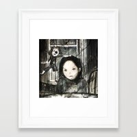 child Framed Art Prints featuring child by woman