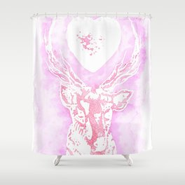 Louis' stag tattoo Shower Curtain