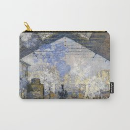 12,000pixel-500dpi - Claude Monet - The Saint-Lazare Station - Digital Remastered Edition Carry-All Pouch