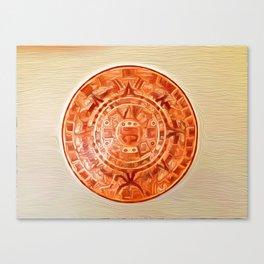 Montezuma's Calendar Canvas Print
