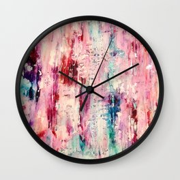 A Bright Bit of Grunge- Colorful Abstract Wall Clock