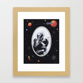 Interplanetary Romance Framed Art Print