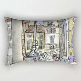 City Landscapes - Piazza della Rotonda - Pantheon - Rome - Italy Rectangular Pillow