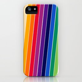 Awe Yeah - 70s style retro throwback 1970s rainbow colorful trendy graphic art iPhone Case