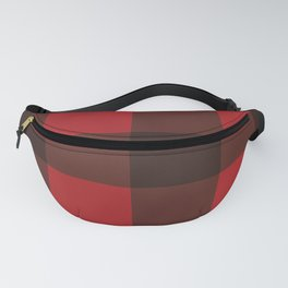 Red & Black Plaid Fanny Pack