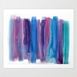 Brushed Watercolor Art Print