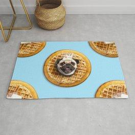 Pug Waffles Rug
