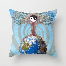 Balanced Earth Throw Pillow