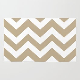 Khaki (HTML/CSS) (Khaki) - grey color - Zigzag Chevron Pattern Rug