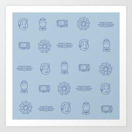 Fallout- Vault Dweller pattern Art Print