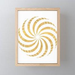 GOLD TORUS circular sacred geometry Framed Mini Art Print