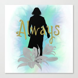 Always: Severus with lilies Canvas Print