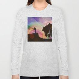 Freedom and rainbow Long Sleeve T-shirt