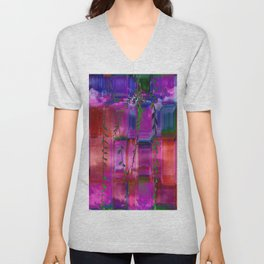 Infused colors Unisex V-Neck