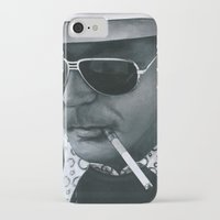 hunter s thompson iPhone & iPod Cases featuring Hunter S. Thompson on vinyl record print by Eric Popp