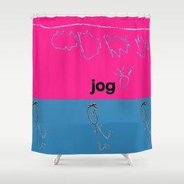 Jog Shower Curtain