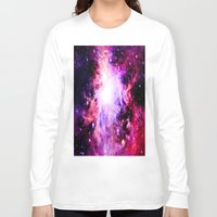 nebula Long Sleeve T-shirts featuring Orion NebuLa. Purple Fuchsia Galaxy by 2sweet4words Designs