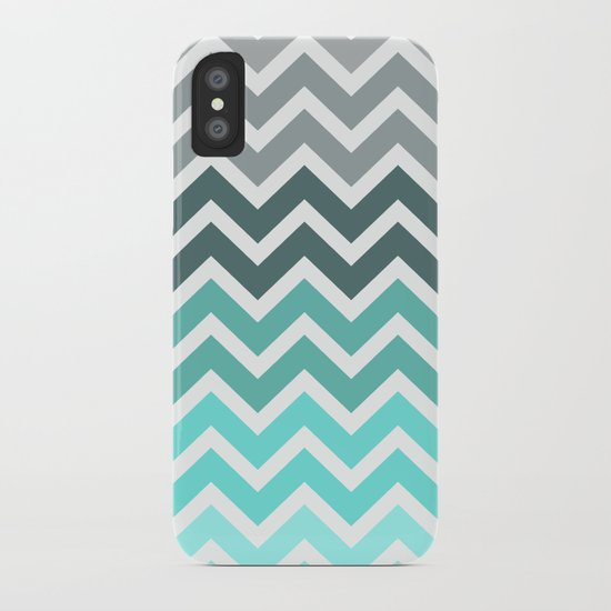 Tiffany Fade Chevron Pattern iPhone Case