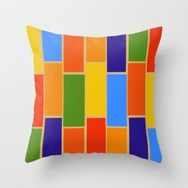 Colored Tiles Version 1 Throw Pillow