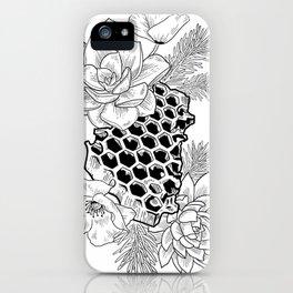Succulents & Honeycomb iPhone Case