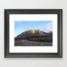 Blue Creek, Alaska Framed Art Print