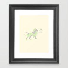 lion's roar Framed Art Print