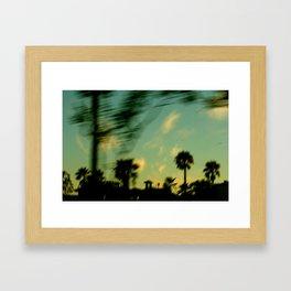 A fond farewell Framed Art Print