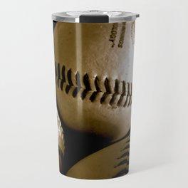 Baseball Days in B&W Travel Mug