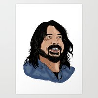 dave grohl Art Prints featuring Dave Grohl - Fan Art by Matty723