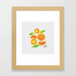 Juicy Grapefruits Framed Art Print