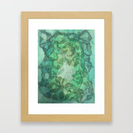 Green Blobs Framed Art Print