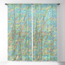 Algae mosaic Sheer Curtain