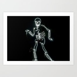 Light Painted Skeleton Art Print