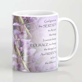 Serenity Prayer Wisteria Coffee Mug