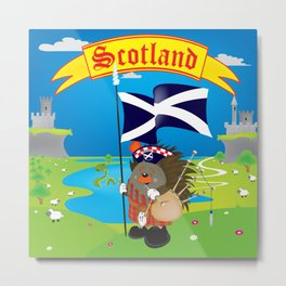 Greetings from Scotland Metal Print