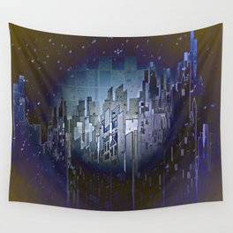 Walls in the Night - UFOs in the Sky Wall Tapestry